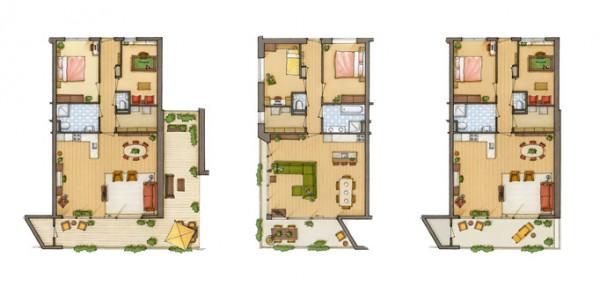 2d grondplannen 3d 3d partner in for Exemple maison sweet home 3d